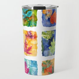 Colorful Summer Leaves Travel Mug