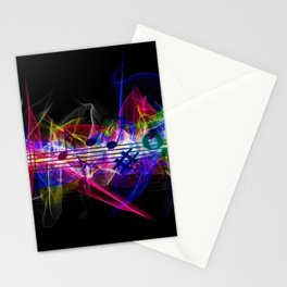 Colorful musical notes and scales artwork Stationery Cards