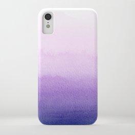 Purple Watercolor Design iPhone Case