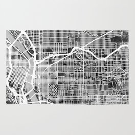 Portland Oregon City Map Rug