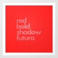 MetaType Red Art Print