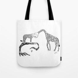 Giraffe/Cheetah Tote Bag