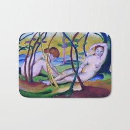 Franz Marc, Nudes under Trees, 1911 Bath Mat