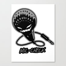 Mic-Check Canvas Print