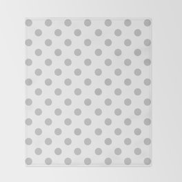 Polka Dots (Gray & White Pattern) Throw Blanket