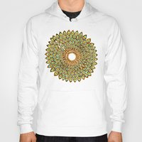 70s Hoodies featuring Peacock Mandala – 70s Palette by Cat Coquillette