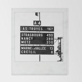 490 km to Strasbourg - The Polaroid Project Throw Blanket
