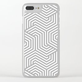 Silver chalice - grey - Minimal Vector Seamless Pattern Clear iPhone Case