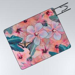 Hale Aloha Hibiscus Picnic Blanket