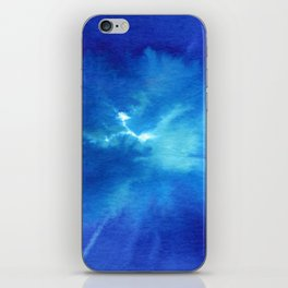 Blue Powder iPhone Skin