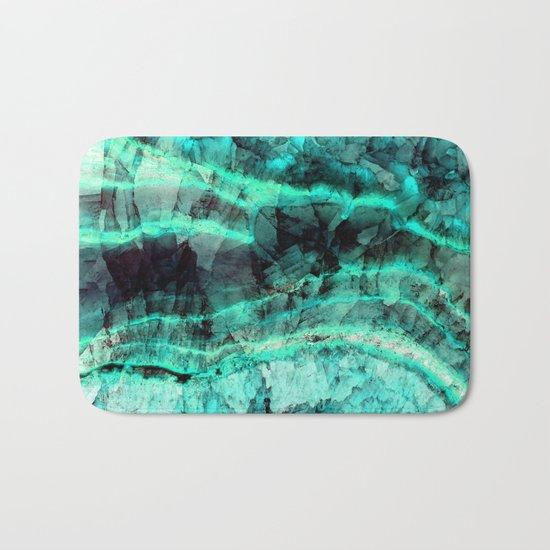 Turquoise onyx marble Bath Mat