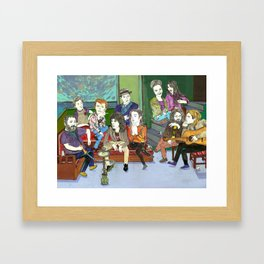 """ Stars drink tea and smokes waterpipe"" Framed Art Print"