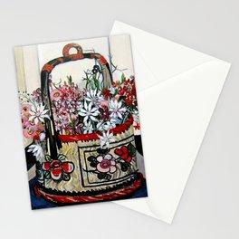 """Basket of Flannel Flowers"" by Margaret Preston Stationery Cards"