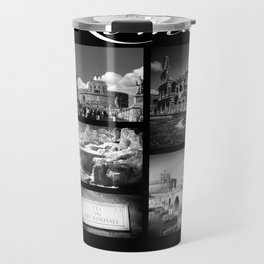 Rome Poster black and white Travel Mug
