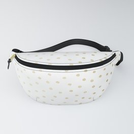 Delicate Gold Polka Dots Fanny Pack