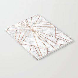 Art Deco Marble & Copper - Large Scale Notebook