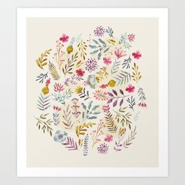 Light floral Art Print