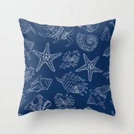 Sea vacation. Blue dream. Throw Pillow