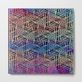 Color Burst Patterns Metal Print