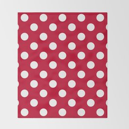 Red and Polka White Dots Throw Blanket