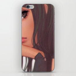 Super Pretty Hentai Girl Model With Sad Expression Ultra HD iPhone Skin
