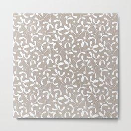 Mistletoe - Warm Gray Metal Print
