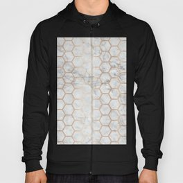 Honeycomb Marble Rose Gold #358 Hoody