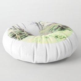 Misty Dalby Forest Floor Pillow