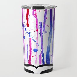 One of a Kind Grateful Dead Head Painting  Travel Mug