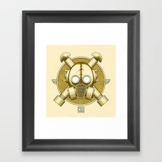 Art Deco Gasmask Crossbones Framed Art Print