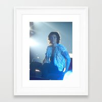 harry styles Framed Art Prints featuring Harry Styles by Halle