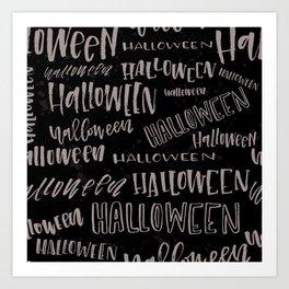 Halloween (Dark) Art Print