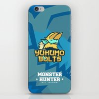 monster hunter iPhone & iPod Skins featuring Monster Hunter All Stars - The Yukumo Bolts by Bleached ink