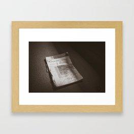 Hymn Book 2 Framed Art Print