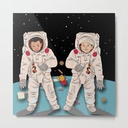 Astronaut Brothers Metal Print