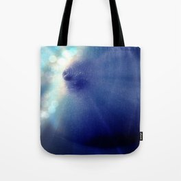 Magnificent Breast Blue Bokeh Sparkle Tote Bag