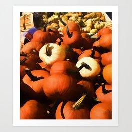 Fall Pumpkins Art Print