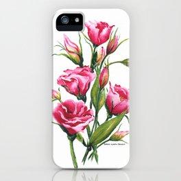 Pink Lisianthus iPhone Case