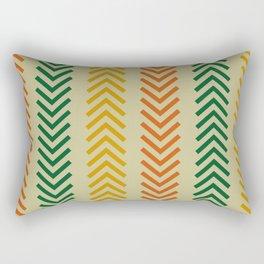 Ethnic Orange, Green & Gold Arrows Rectangular Pillow