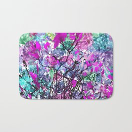 Floral abstract (81) Bath Mat