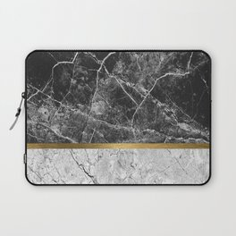 Contemporary gold marble 01 Laptop Sleeve
