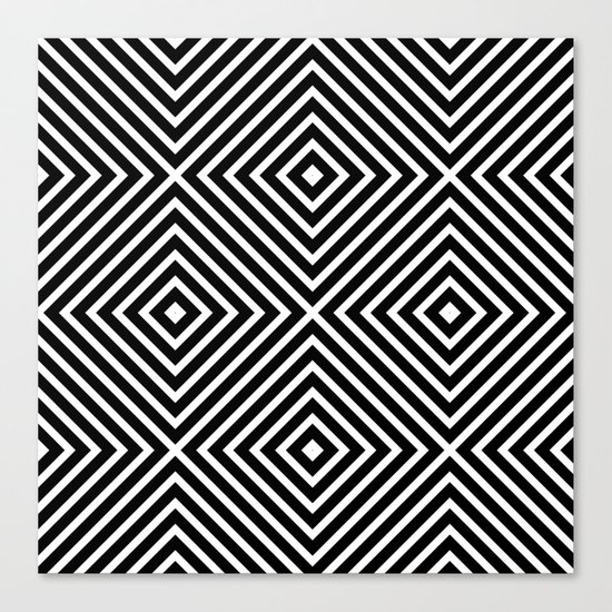 Chevron Diamond ///www.pencilmeinstationery.com Canvas Print