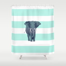 The Green Elephant Shower Curtain