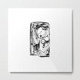 Nude Goddess Doodle 3p by Kathy Morton Stanion Metal Print