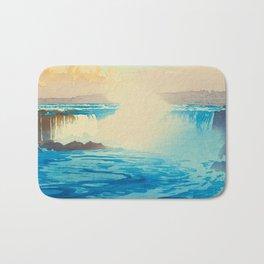 Niagara Falls Hiroshi Yoshida American Landscape Japanese Woodblock Print Bath Mat