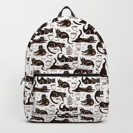 Gouache Black Cats & Coffee Backpack