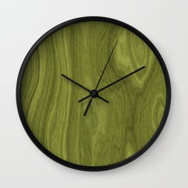 Horizontal green laminate Wall Clock
