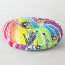 Space cats Floor Pillow