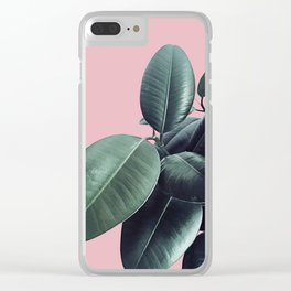Ficus Elastica #14 #CoralBlush #decor #art #society6 Clear iPhone Case