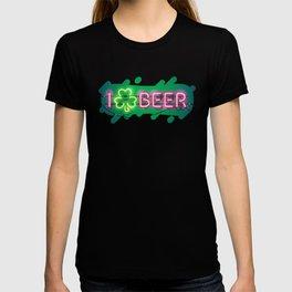I Like Beer Neon Sign T-shirt
